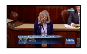 Rep. Dina Titus (D-NV-01) introducing the Secure Our Skies Act.